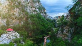 Parc de paysage en montagne Photographie stock