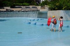 Parc de Petronas KLCC en Kuala Lumpur Photographie stock libre de droits