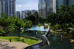 Parc de Petronas KLCC en Kuala Lumpur Image libre de droits