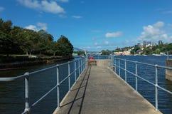 Parc de point de ballast avec le pont de port sur la baie Sydney de Mort Image libre de droits