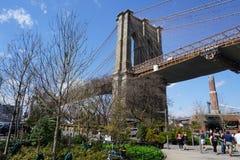 Parc 207 de pont de Brooklyn Photos stock
