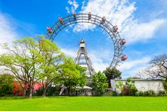 Parc de Prater à Vienne image libre de droits