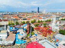 Parc de Prater à Vienne images stock