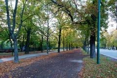 Parc de Prater à Vienne en octobre images libres de droits
