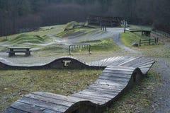 Parc de qualifications de bicyclette de montagne de Burnaby Photographie stock libre de droits