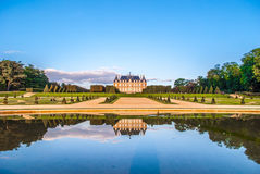 Parc de Sceaux and its legendary Le Nôtre gardens. What a bright scene: near Paris, this Parc de Sceaux of the castle was designed by André Le Notre, the Royalty Free Stock Photo
