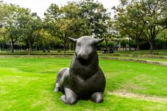 Parc 2 de sculpture de Changhaï Jingan image libre de droits