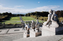 Parc de sculpture en Vigeland, OSLO, NORVÈGE Photo libre de droits