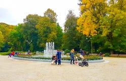 Parc de Sereikiskiai, Vilnius Photos libres de droits