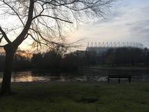 Parc de St James dans le lever de soleil d'hiver Photo libre de droits