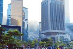Parc de Tamar de Hong Kong Photographie stock libre de droits