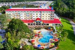 parc de terre de lego et station de vacances la Floride du ciel Images stock