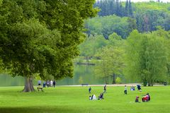 Parc de Tilgate, le Sussex occidental, Angleterre image libre de droits