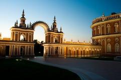 Parc de Tsaritsino la nuit Photographie stock libre de droits