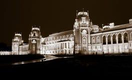 Parc de Tsaritsino la nuit Photo libre de droits