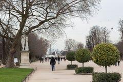 Parc de Tuileries, grande roue images libres de droits