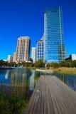 Parc de vert de Houston Discovery dedans en centre ville images stock