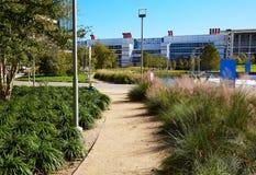 Parc de vert de Houston Discovery dedans en centre ville photos libres de droits