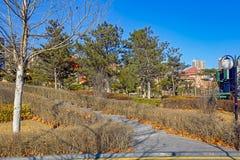 Parc de ville à Qinhuangdao Photo stock