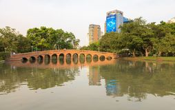Parc de ville, parc de Chatuchak de parc public Photos stock