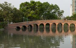 Parc de ville, parc de Chatuchak de parc public Photo stock
