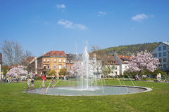 Parc de ville dans Ettlingen photo libre de droits
