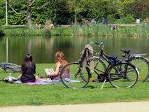 Parc de Vondel à Amsterdam Photo stock