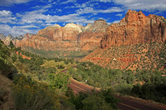 Parc de Zion National Photographie stock libre de droits