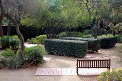 Parc del laberint - Jardà museu Arkivbilder