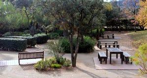 Parc del laberint - Jardà museu Royaltyfri Fotografi