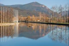 Parc del Segre. (Segre Park) of La Seu de Urgell, Catalonia stock photography