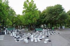 Parc des-bastioner i Genève, Schweiz arkivbilder