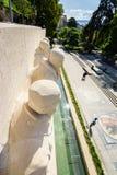 Parc des-bastioner i Genève, Schweiz arkivfoton