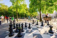 Parc des-bastioner i Genève, Schweiz - HDR royaltyfri foto