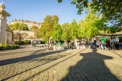 Parc des bastiony w Genewa Szwajcaria, HDR, - zdjęcie stock