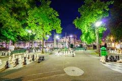 Parc des bastiony w Genewa Szwajcaria, HDR, - fotografia stock