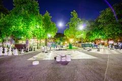Parc des bastiony w Genewa Szwajcaria, HDR, - zdjęcia stock