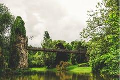 Parc des Buttes Chaumont in Paris, France. Royalty Free Stock Photos