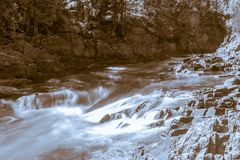 Dorwin Falls, Rawdon royalty free stock images