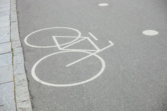 Parc distinct de connexion de voie pour bicyclettes Photographie stock