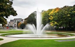 "Parc du五十周年纪念公园†""Jubelpark 残酷 比利时 库存照片"