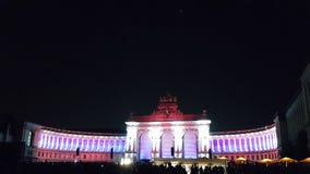 Parc du五十周年纪念公园,白桃红色颜色 免版税库存照片