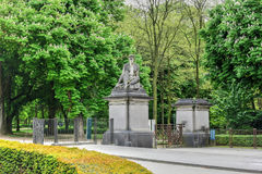 Parc du五十周年纪念公园-布鲁塞尔,比利时 免版税库存图片