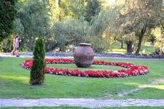 Parc du château de son, maison de Dracula, Brasov, la Transylvanie photo stock