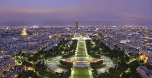 Parc Du Champ De Mars At Twilight Royalty Free Stock Images