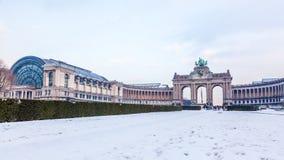 Cinquantenaire或Jubel公园在布鲁塞尔,比利时。 免版税库存照片