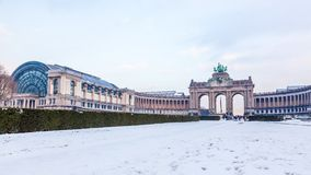 Cinquantenaire lub Jubla park w Bruksela, Belgia. Zdjęcia Royalty Free
