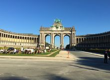 Parc du Cinquantenaire French for `Park of the Fiftieth Anniversary` royalty free stock photo