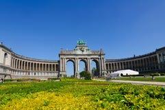 Parc du Cinquantenaire i Bryssel, Belgien Royaltyfri Foto