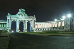 Parc du Cinquantenaire, sosta di Jubel, Bruxelles Fotografie Stock Libere da Diritti